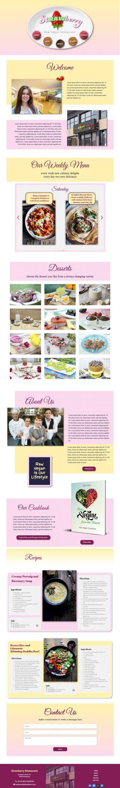 raw restaurant website